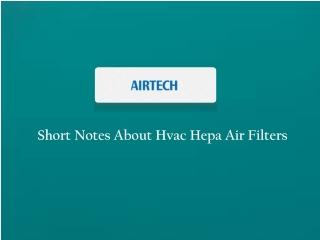 Hvac Hepa Air Filters Supplier