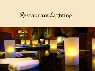 Restaurant Lighting - Rechargeable Tea Lights