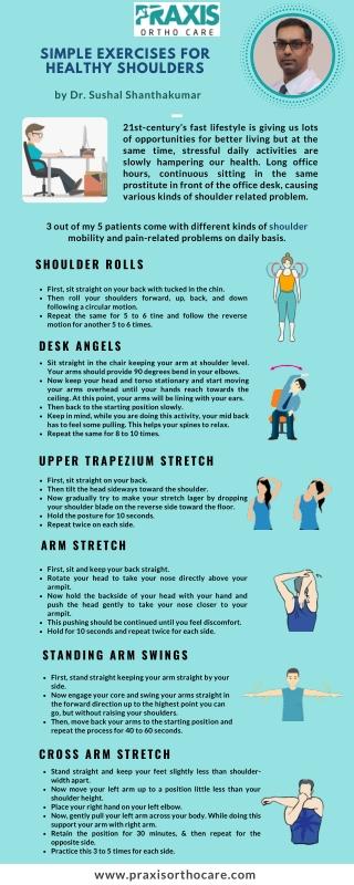 Simple exercises for healthy shoulder-Best Shoulder Surgeon Near Me in Bangalore