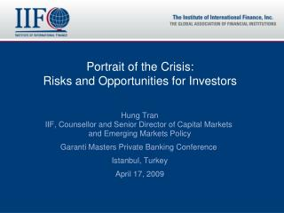 Portrait of the Crisis:  Risks and Opportunities for Investors