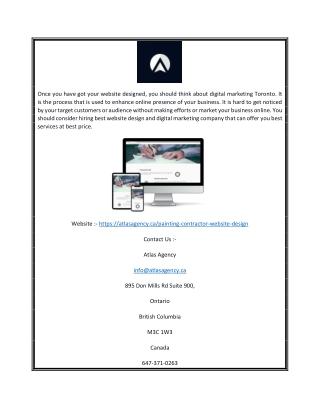 Painting contractor website design | Atlasagency.ca