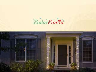 Solar Santa - Outdoor Solar Christmas Lights