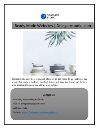 Ready Made Websites | Delegatestudio.com