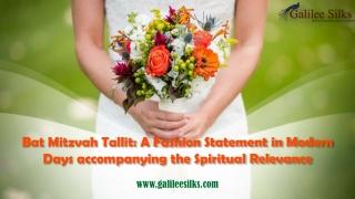 Bat Mitzvah Tallit: A Fashion Statement in Modern Days accompanying the Spiritual Relevance