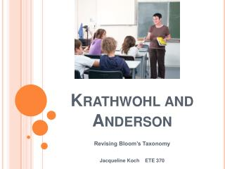 Krathwohl and Anderson