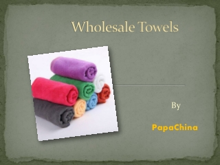Wholesale Towels, Personalized Towels, Custom Towels