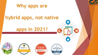 Why apps are hybrid apps, not native apps in 2021?