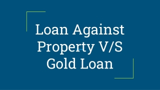 Everybody Should Once Check for Property Loan