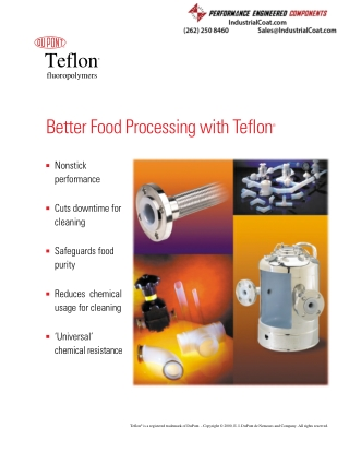 Better Food Processing with Teflon