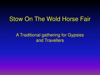 Stow On The Wold Horse Fair