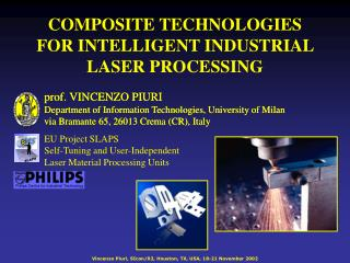 COMPOSITE TECHNOLOGIES  FOR INTELLIGENT INDUSTRIAL LASER PROCESSING
