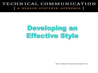 Developing an  Effective Style