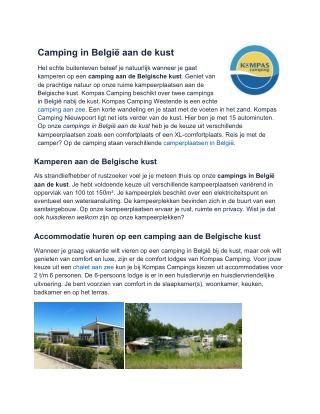 Camping Belgische kust
