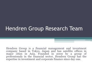 Hendren group tokyo japan research team