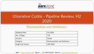Ulcerative Colitis - Pipeline Review, H2 2020