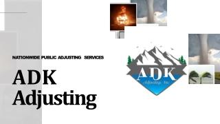 Adk Adjusting - Nationwide Public Adjusting Services