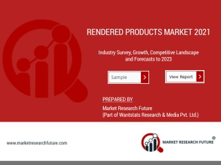 Rendered Products Market
