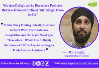Infographic - Bronze Wing Trading Review from Mr. Singh India
