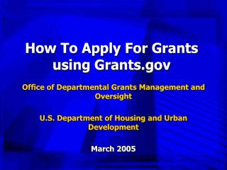 How To Apply For Grants using Grants.gov