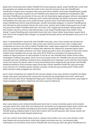 Gimana Petunjuk Utama Buat Membeli Kumpulan Situs Poker88 Online Terpercaya Sama Simpel?