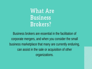 What Are Business Brokers