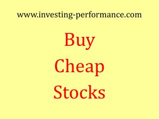 Buy Cheap Stocks