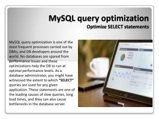 MySQL Query Optimization - Optimize SELECT statements