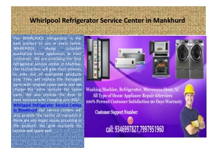 Whirlpool Microwave Oven Service Center in Mumbai Central