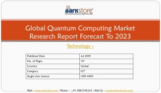 Global Quantum Computing Market Research Report Forecast To 2023