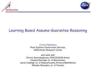 Learning Based Assume-Guarantee Reasoning