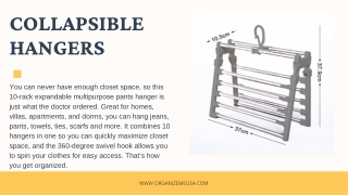 collapsible hangers