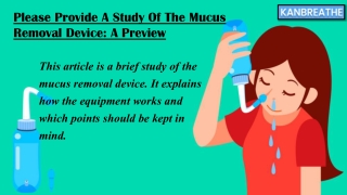 Mucus removal device