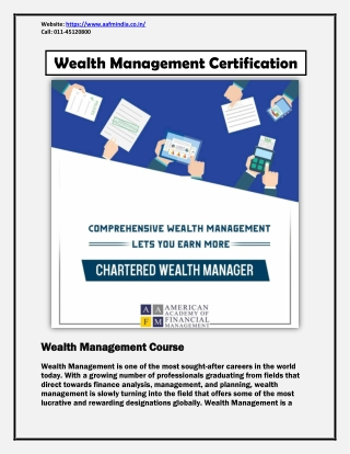 Wealth Management Certification - Wealth Management Course