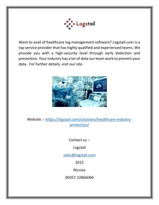 Healthcare Industry Log Management Software Provider   Logstail.com