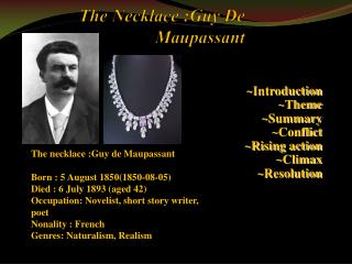 The Necklace :Guy De Maupassant
