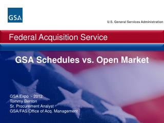 GSA Schedules vs. Open Market