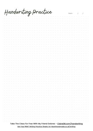 Free Printable Cursive Handwriting Practice Sheets