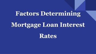 Important Facts Know About Mortgage Loan Rates