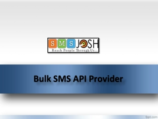 SMS API Provider In Hyderabad, API integration Services in Hyderabad – SMSjosh