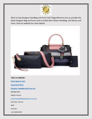 Designer Handbag and Purse Set | Elegantfemme.com.au