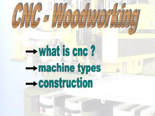 CNC - Woodworking