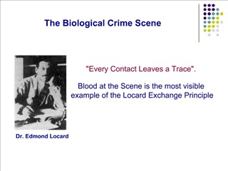 The Biological Crime Scene