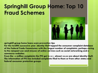 Springhill Group Home: Top 10 Fraud Schemes - livejournal