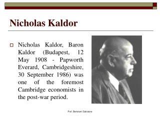 Nicholas Kaldor