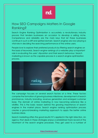 How SEO Campaigns Matters In Google Ranking?