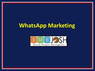 WhatsApp Marketing Hyderabad, WhatsApp Marketing Services Hyderabad – SMSjosh