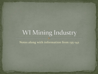WI Mining Industry