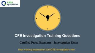 CFE Investigation Exam Questions