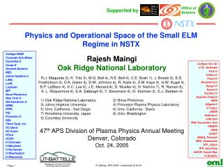 Physics and Operational Space of the Small ELM Regime in NSTX