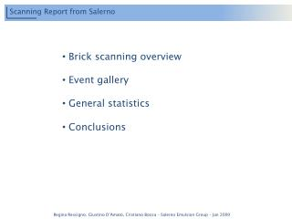 Scanning Report from Salerno